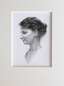 Samantha - Graphite, 120mm x 160mm.
